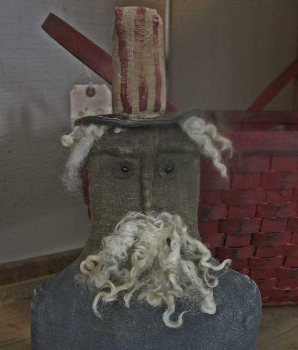 BC152 Primitive Uncle Sam Stump Doll
