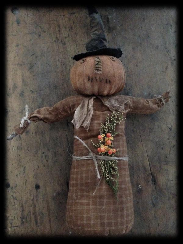 BC160 Prim Pumpkin Witch