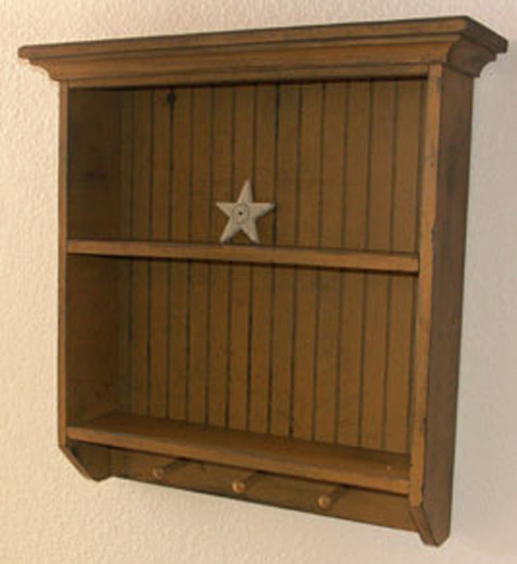 WN119 Primitive Hall Shelf Cupboard